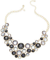 INC International Concepts Gold-Tone Black Stone Bib Necklace, Created for Macy's