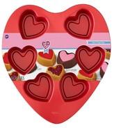Wilton 6 Cavity Mini Heart Pan - Red