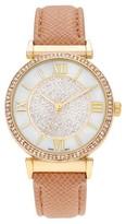 Geneva Platinum Women's Rhinestone Accent Roman Numeral Strap Watch