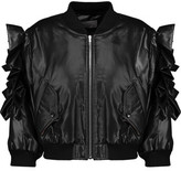 Preen by Thornton Bregazzi Rowena Ruffled Shell Bomber Jacket