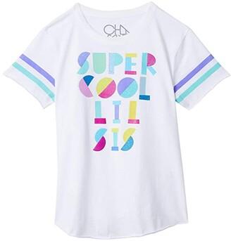 Chaser Vintage Jersey Tee (Little Kids/Big Kids) (White 2) Girl's T Shirt