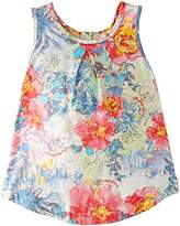 Pampolina Girl's Tunic Floral Sleeveless Blouse,4 Years (Manufacturer Size:104)