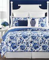 Martha Stewart Collection Watercolor Rose Twin Quilt