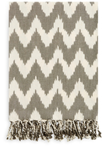A & R Cashmere Handmade Ikat Cotton Throw