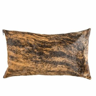 Millwood Pines Roberge Leather/Suede Lumbar Pillow Cover