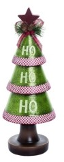 Transpac Trans Pac Resin Small Green Christmas Ho-ho-ho Tree