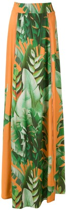 AMIR SLAMA printed maxi skirt