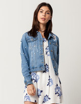 Boom Boom Jeans Paint Splatter Womens Denim Jacket