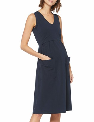 Boob Women's Depot Maternity Summer Dress in Organic Cotton with Pockets (M Midnight Blue)