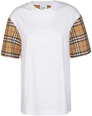 Vintage Check Sleeved T-Shirt