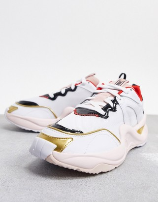 Puma x Charlotte Olympia rise sneakers in white