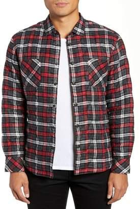 Good Man Brand Slim Fit Linen Plaid Shirt Jacket