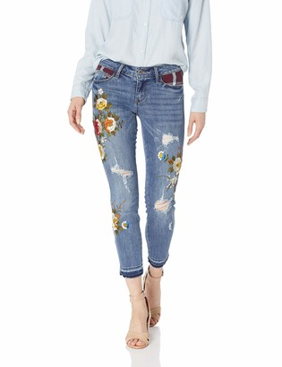 GUESS Women's Patchwork Plaid Sexy Curve Jean