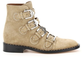 Givenchy Studded Buckle Detail Ankle Boots