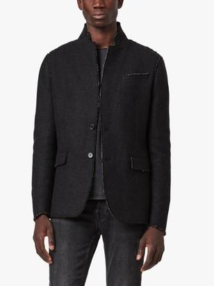 AllSaints Tolcis Wool Blend Blazer, Black