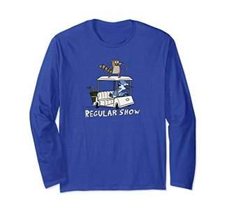 Regular Show Mordecai and Rigby Golf Cart Long Sleeve T-Shirt