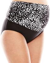 CHRISTINA MATERNITY Christina Dot Print 3-Way Swim Bottoms - Maternity