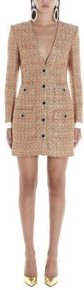 Alessandra Rich Embellished Tweed Dress