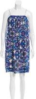 Emilio Pucci Embellished Silk Printed Dress