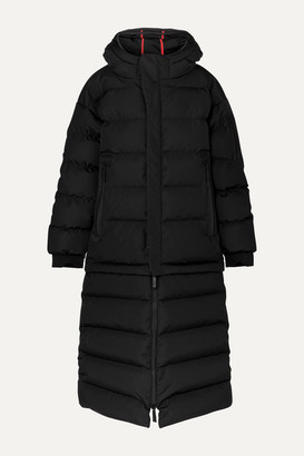 TEMPLA 3l Mor Oversized Convertible Hooded Quilted Shell Down Coat - Black