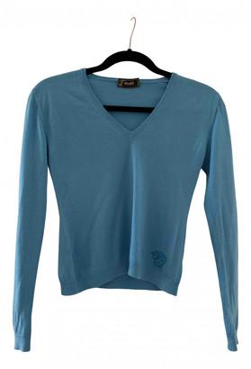 Versace Blue Cashmere Knitwear