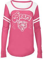 5th & Ocean Chicago Bears Pink Slub Long Sleeve T-Shirt, Girls (4-16)