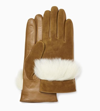UGG Suede Leather and Sheepskin Glove