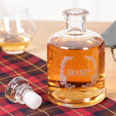 Dibor Glass Etched Brandy Decanter
