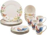 Paula Deen Stoneware Dinnerware Set, 16pc - Garden Rooster