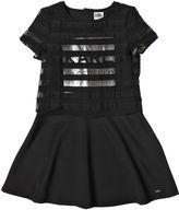Karl Lagerfeld Organza Jacquard & Neoprene Dress