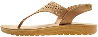 M&Co Shapes studded toe post flat sandal