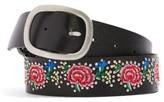 Topshop Women's Floral Embroidered Belt