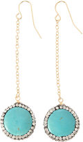 Natasha Accessories Clear Drop Earrings