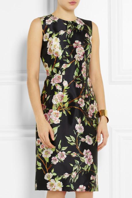 Dolce & Gabbana Wild rose-print silk dress