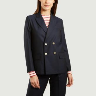 Laquintane - Navy Blue Virgn Wool Crossed Blazer - wool | navy blue | 38 - Navy blue