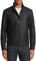 BOSS GREEN C-Jalpin Matte Leather Jacket