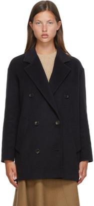 Max Mara Navy Wool Origiano Jacket
