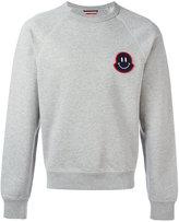 Moncler smiley logo plaque sweatshirt - men - Cotton - M