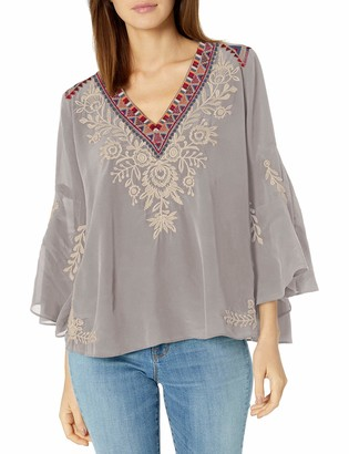 3J Workshop by Johnny was Women's Silk Swing Blouse with Embroidery