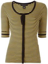 Marc Jacobs striped fine knit top - women - Cotton - L