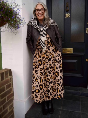 Somerset by Alice Temperley Somerset by Alice Temperly Oversized Leopard Print Shirt Dress, Multi