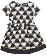 KensieGirl Black Wonderland Hearts A-Line Dress - Infant, Toddler & Girls