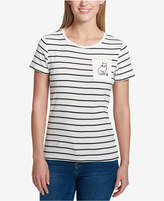 Tommy Hilfiger Cotton Embroidered Cat T-Shirt, Created for Macy's