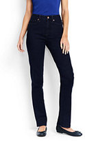 Lands' End Women's High Rise Straight Leg Jeans-Black