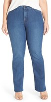 NYDJ 'Billie' Stretch Mini Bootcut Jeans (Yucca Valley) (Plus Size)