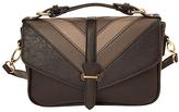 Imoshion Black & Tan Chevron Crossbody Bag