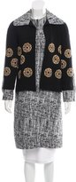 Michael Van Der Ham Embellished Trompe L'oeil Jacket w/ Tags