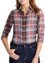 Lauren Ralph Lauren Petite Plaid Cotton Twill Shirt
