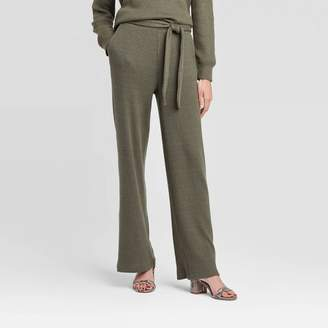 Who What Wear Women's Mid-Rise Straight Leg Cozy Rib Lounge Pants - Who What WearTM