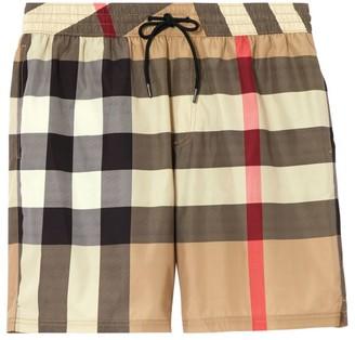 Burberry Checker Swim Shorts